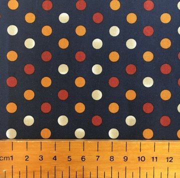 Scrappier Dots Ombre Dots Navy Fabric