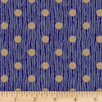 Scrappier Dots Rivers Of Dots Blue Fabric
