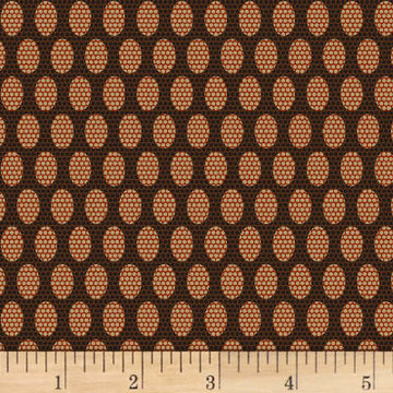 Scrappier Dots Beehive Dots Brown Fabric