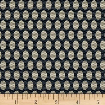Scrappier Dots Beehive Dots Navy Fabric