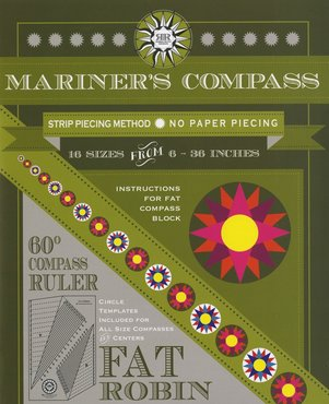 Fat Robin Mariners Compass Ruler and Book Set