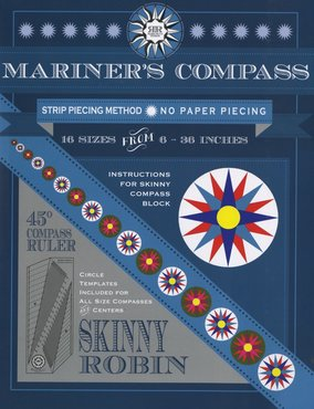 Skinny Robin Mariners Compass Ruler and Book Set