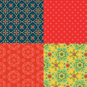 Wildflower Boutique Fat Quarter Panel Red