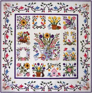 Baltimore spring block of the month quilt